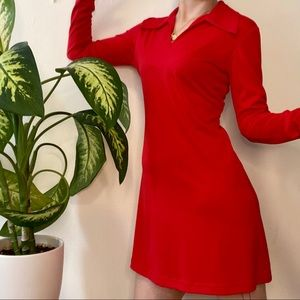 Vintage 90s red dress XS